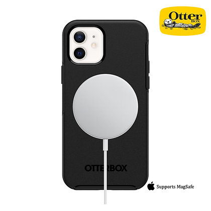 "OtterBox iPhone 12 mini 5.4"" Symmetry Series+ Case with MagSafe, Black"