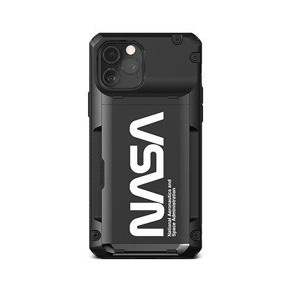 "VRS Design iPhone 2020 6.7"" Damda Glide Pro Black Nasa Ultra Text Illustration"