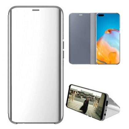 Komass Huawei P40 Pro+ 5G Clear View Standing Cover Silver