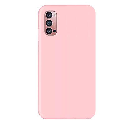 Komass Oppo Reno4 Pro Liquid Silicone Back Cover Pink