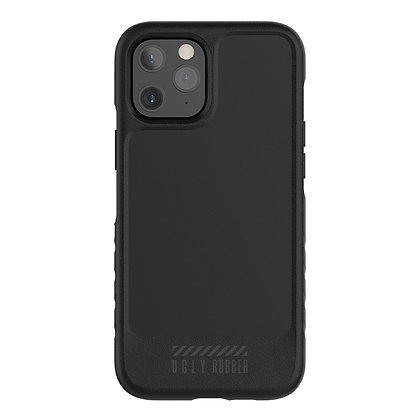"""Ugly Rubber iPhone 12 Pro Max 6.7"""" L-Model (Black)"""