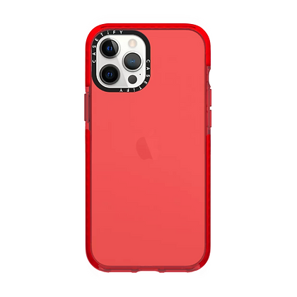 "Casetify iPhone 12 / iPhone 12 Pro 6.1"" Impact Case, Red"