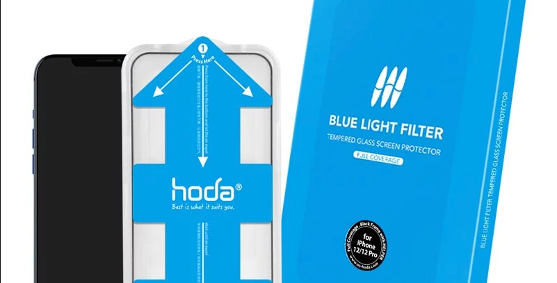 Hoda iPhone 12   Pro Tempered Glass  , Full Coverage Anti-Blue-Ray 0.33mm
