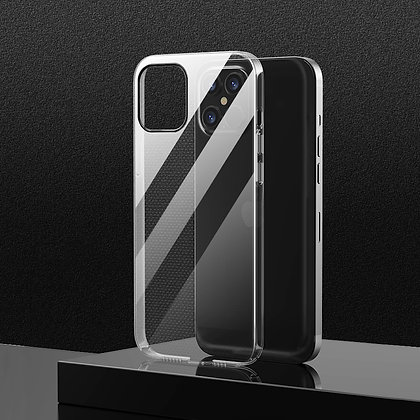 """Comma iPhone 12 / iPhone 12 Pro 6.1"""" Hard Jacket Anti-bacterial Case, Clear"""