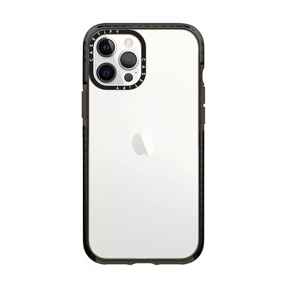 "Casetify iPhone 12 / iPhone 12 Pro 6.1"" Impact Case, Black"