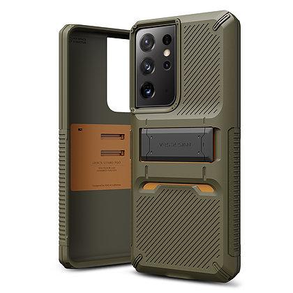 VRS Design Samsung Galaxy S21 Ultra Quickstand Green Metal Black