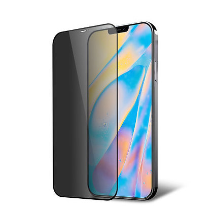 """Komass iPhone 12 Pro Max 6.7"""" Tempered Glass, Privacy Black"""