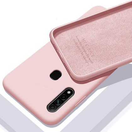 Komass Oppo A31 Liquid Silicone Back Cover Pink