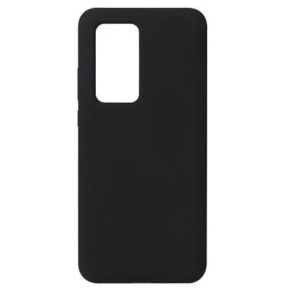 Komass Huawei P40 Pro+ 5G Liquid Silicone Back Cover Black Illustration