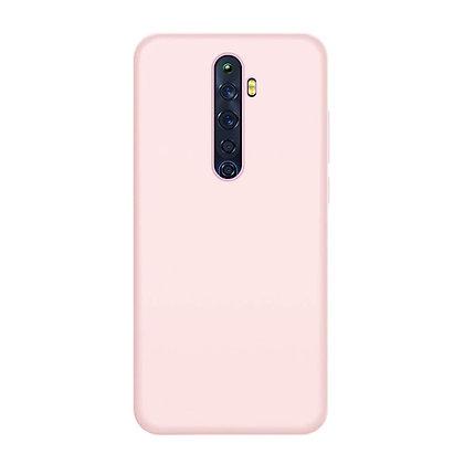 Komass Oppo Reno2 Liquid Silicone Back Cover Pink
