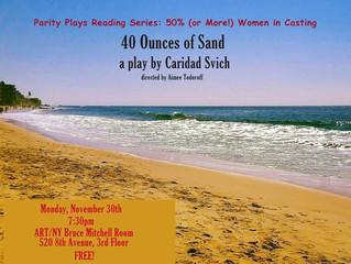 "Public Reading: ""40 Ounces of Sand"" by Obie Award winner Caridad Svich"