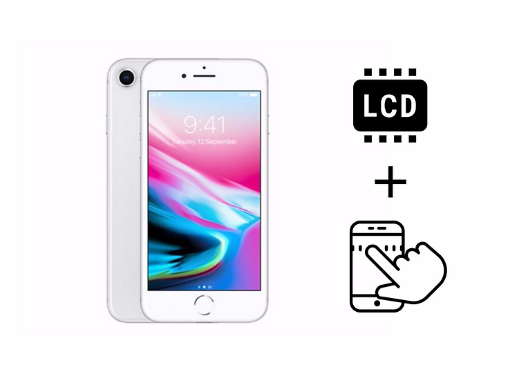 iPhone 8 Glass Touchscreen & LCD