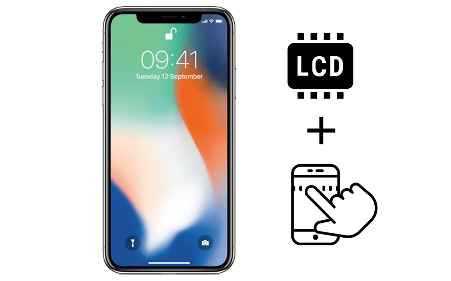 iPhone X Glass Digitizer & LCD
