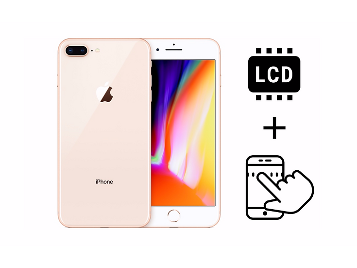 iPhone 8+ Glass Touchscreen & LCD