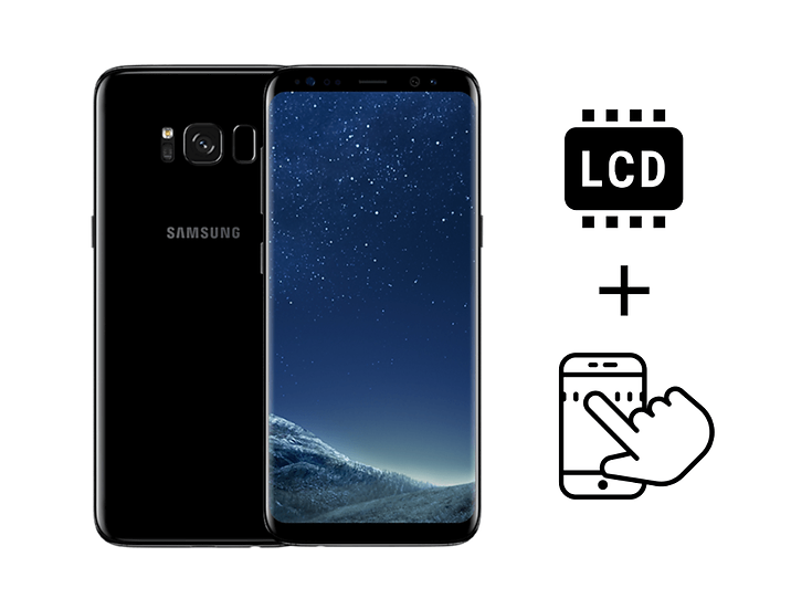 Samsung Galaxy S8+ Glass Touchscreen & LCD Replacement