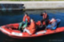 根浜MIND-廣田一樹-レスキューボートに乗る廣田