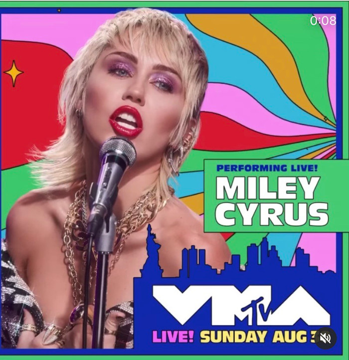MILEY CYRUS JOINS 2020 MTV VIDEO MUSIC AWARDS LIST TO PERFORM NEW SINGLE 'MIDNIGHT SKY'