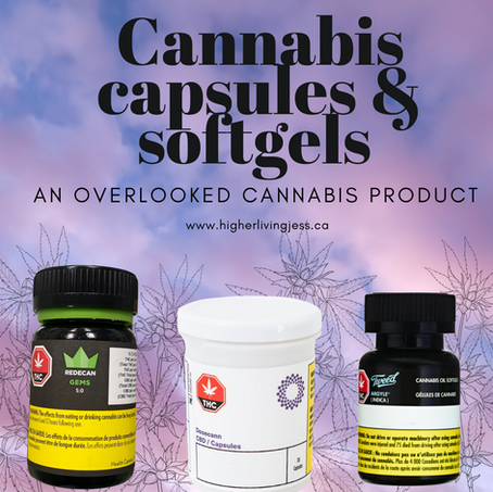 Soft-gel capsules in the cannabis market.