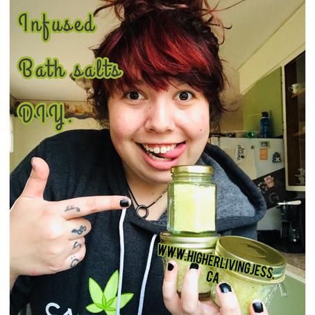 DIY cannabis-infused bath salts!