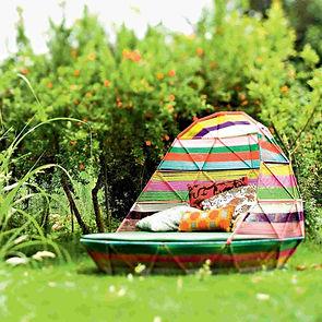 Arvabil  Handmade Organic Daybed Rattan