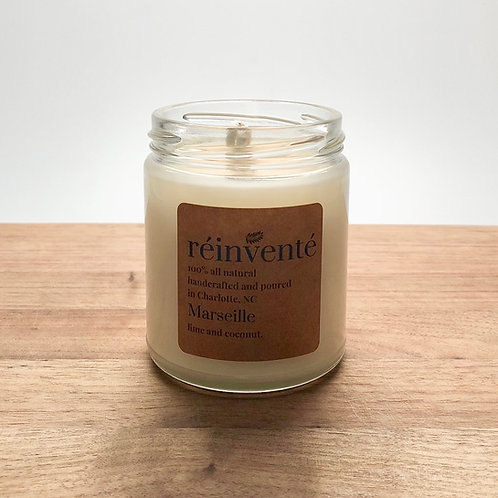 9oz. - MARSEILLE (Coconut Lime Verbena) - Hand Poured Soy Candle