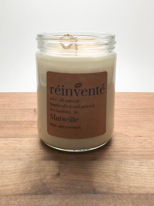 16oz. - MARSEILLE (Coconut Lime Verbena) - Hand Poured Soy Candle