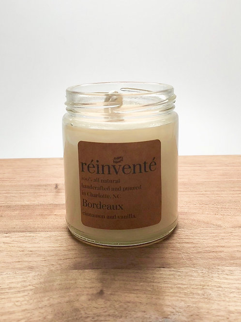 9oz. - Bordeaux - Cinnamon and Vanilla - Hand Poured Soy Candle
