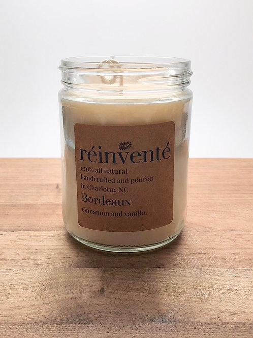 16oz. - Bordeaux - Cinnamon and Vanilla - Hand Poured Soy Candle