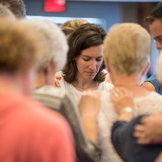 Congregants Gathered in Prayer