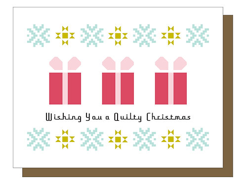 Wishing You a Quilty Christmas - Gift Card