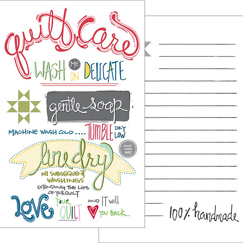 Quilt Care Card - 2 PK