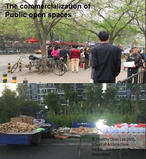The commercialization of Public open spa