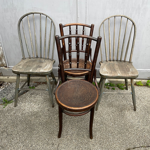 Lot 37 - Four Vintage Chairs