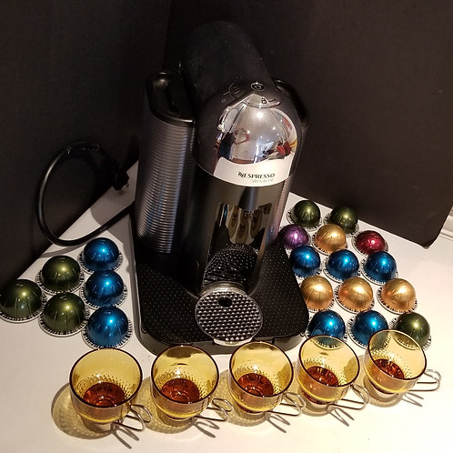 Lot 30 Nespresso Machine, etc...
