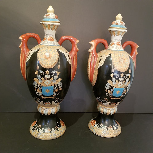 Lot 35 Pair of Chinese Urns