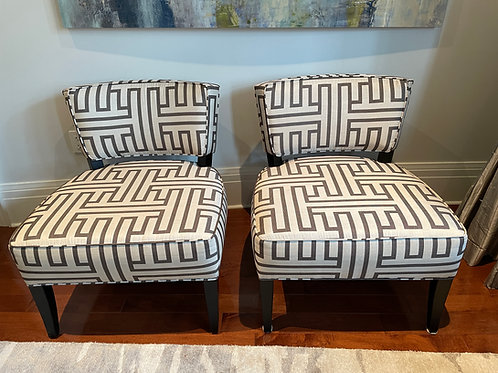 Lot 6 - Pair of Slipper Chairs