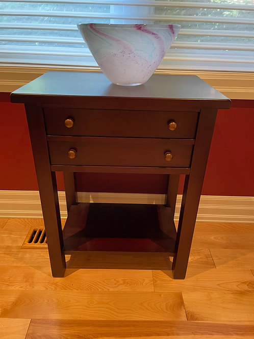 Lot 33 - Side Table & Bowl