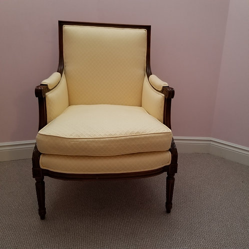 Lot 45 - Yellow Arm Chair/Down-filled