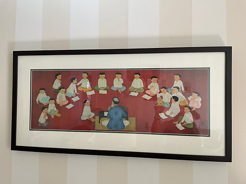 Lot 69 - Lithograph of Teacher w/Students
