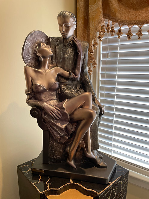 Lot 61 - 'The Lovers' Metal Sculpture