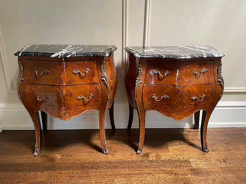 Lot 97 - Pair of Marble Top Commodes