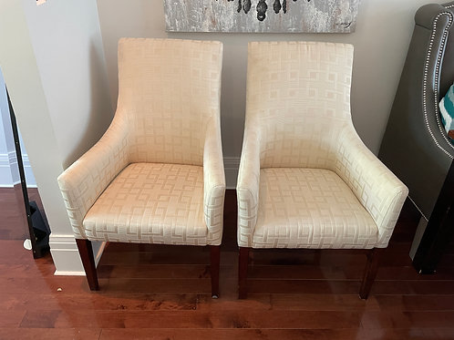 Lot 106 - Pair of Ivory Armchairs