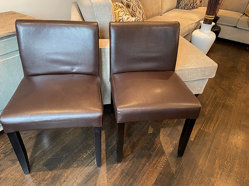 Lot 28 - Pair of Leather Chairs