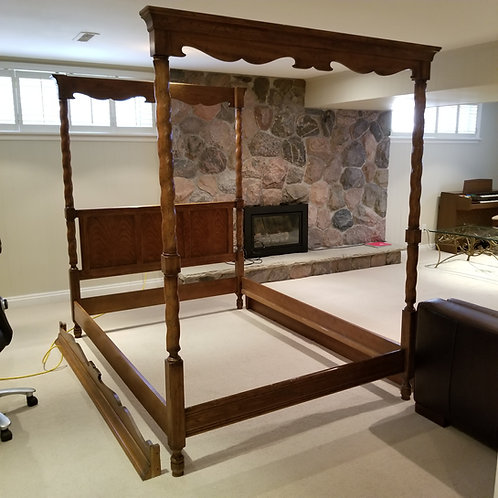 Lot 81 Four Poster Canopy Bed