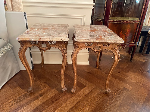Lot 40 - Marble Side Tables