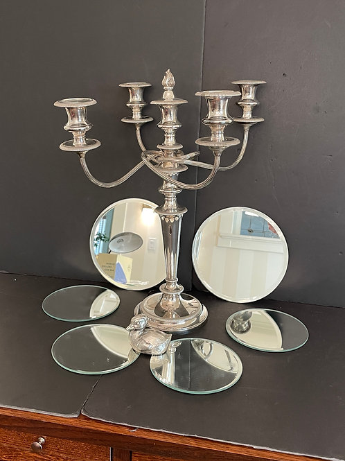 Lot 71 - Silver-Plated Candelabra, etc...