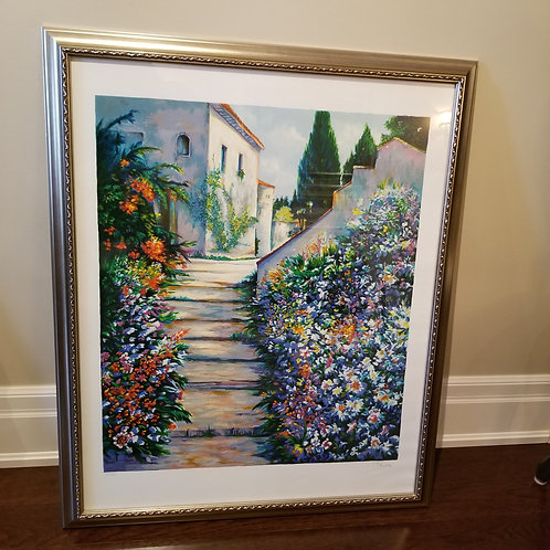 Lot 40 Serigraph of Garden Stairs