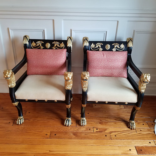 Lot 71 Pair of Versace-Style Chairs