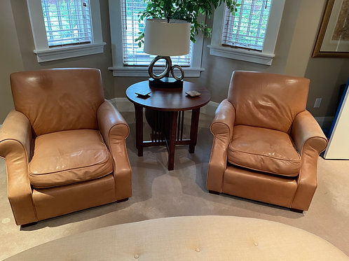 Lot 7 - Harrod's of London Leather Chairs