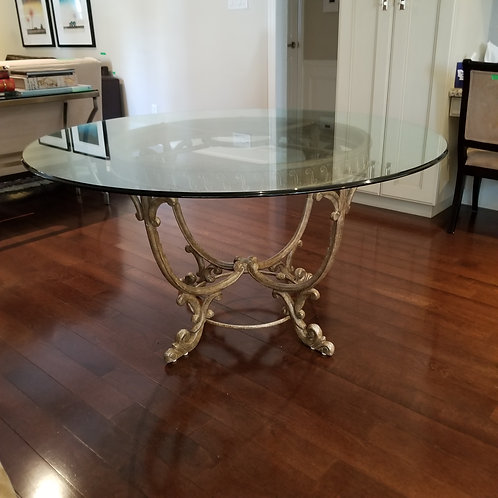 Lot 56      Round Glass Table